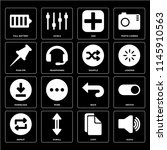 set of 16 icons such as audio ...