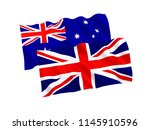 national fabric flags of... | Shutterstock . vector #1145910596