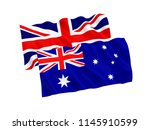 national fabric flags of... | Shutterstock . vector #1145910599
