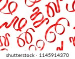 red ribbons. seamless pattern.... | Shutterstock .eps vector #1145914370