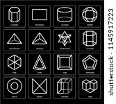set of 16 icons such as cube ... | Shutterstock .eps vector #1145917223