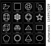 set of 16 icons such as circle  ...