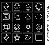 set of 16 icons such as square  ...