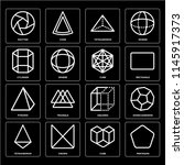 set of 16 icons such as... | Shutterstock .eps vector #1145917373