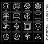 set of 16 icons such as... | Shutterstock .eps vector #1145917403