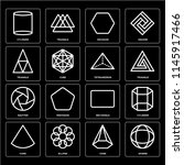 set of 16 icons such as sphere  ... | Shutterstock .eps vector #1145917466