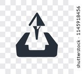 upload vector icon isolated on... | Shutterstock .eps vector #1145918456