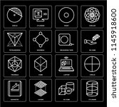 set of 16 icons such as... | Shutterstock .eps vector #1145918600