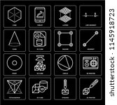 set of 16 icons such as 3d... | Shutterstock .eps vector #1145918723