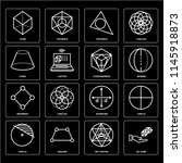 set of 16 icons such as 3d cube ... | Shutterstock .eps vector #1145918873