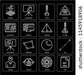 set of 16 icons such as test ...