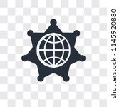 worldwide vector icon isolated... | Shutterstock .eps vector #1145920880