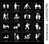 set of 16 icons such as shopper ...