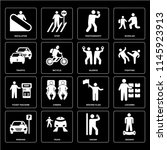 set of 16 icons such as segway  ... | Shutterstock .eps vector #1145923913