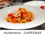 pasta with vegetables | Shutterstock . vector #1145933663