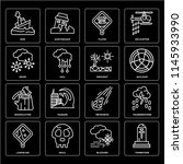 set of 16 icons such as... | Shutterstock .eps vector #1145933990