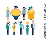 various people characters. flat ... | Shutterstock .eps vector #1145936669