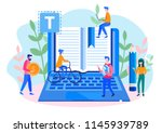 concept blogging  education ... | Shutterstock .eps vector #1145939789