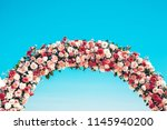 ceremonial wedding arch on the... | Shutterstock . vector #1145940200