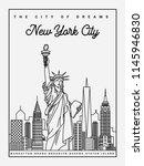 new york city cityscape... | Shutterstock .eps vector #1145946830