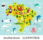 vector illustration with map of ... | Shutterstock .eps vector #1145947856