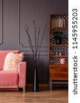 creative black sculpture...   Shutterstock . vector #1145955203