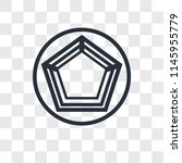 pentagon vector icon isolated... | Shutterstock .eps vector #1145955779