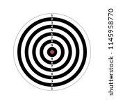 score target for shooting... | Shutterstock .eps vector #1145958770