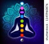 Meditating Human In Lotus Pose...