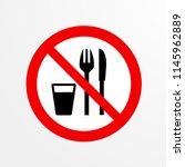 do not eat  caution warn symbol ... | Shutterstock .eps vector #1145962889