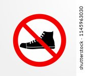 do not take a shoes caution... | Shutterstock .eps vector #1145963030