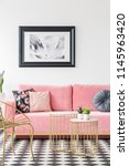 Pink Sofa Decorated With...
