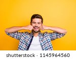 people and positive emotions... | Shutterstock . vector #1145964560