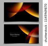 business cards set   Shutterstock .eps vector #1145969870