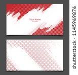 business cards set   Shutterstock .eps vector #1145969876