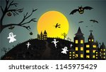 creative halloween night... | Shutterstock .eps vector #1145975429