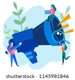 concept megaphone promotion... | Shutterstock .eps vector #1145981846