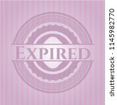 expired badge with pink... | Shutterstock .eps vector #1145982770