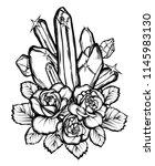 vector illustration. crystals ... | Shutterstock .eps vector #1145983130