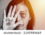 stop violence against women... | Shutterstock . vector #1145984669