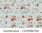 seamless floral pattern with... | Shutterstock . vector #1145986703