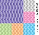 set of vertical wavy stream... | Shutterstock .eps vector #1145987189