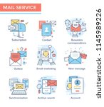 mail service  email marketing... | Shutterstock .eps vector #1145989226