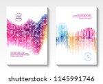 vector annual report templates  ... | Shutterstock .eps vector #1145991746
