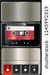 vintage audio tape recorder... | Shutterstock .eps vector #1145992319