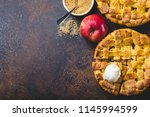 top view of delicious homemade... | Shutterstock . vector #1145994599