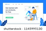 man sitting in the chair... | Shutterstock .eps vector #1145995130