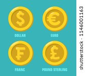 vector financial icon set of... | Shutterstock .eps vector #1146001163