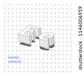isometric outline 3d text.... | Shutterstock .eps vector #1146006959