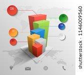 vector 3d infographic element | Shutterstock .eps vector #1146009560